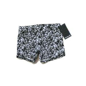 Hurley Shorts Leopard Animal Print Black & White